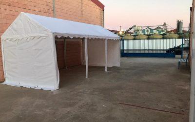 ASPACE Moraleja instala una sala de espera en el patio